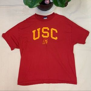 Vintage 90s USC Trojans Embroidered T-Shirt